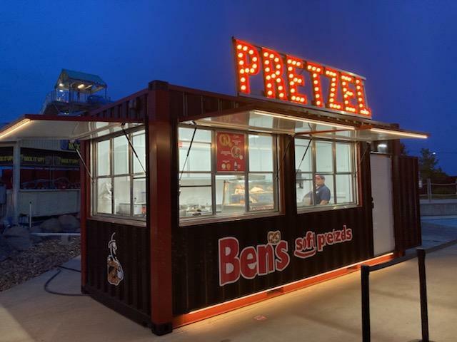 Ben's Pretzels mobile pretzel container at a water park!