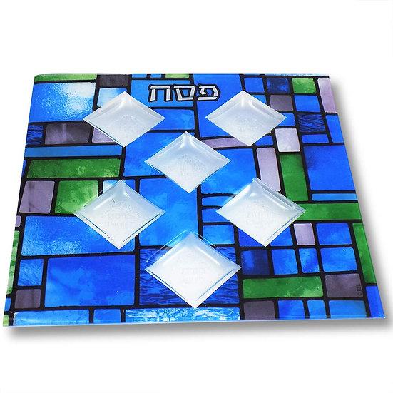Contemporary Blue Glass