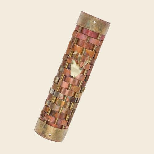 Mezuzah, woven copper