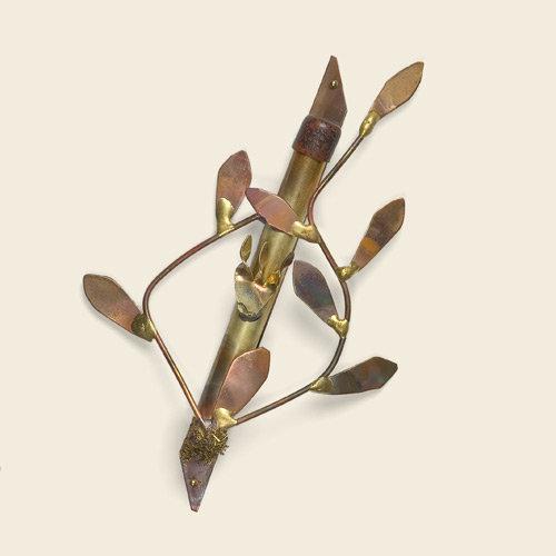 Mezuzah, copper vine