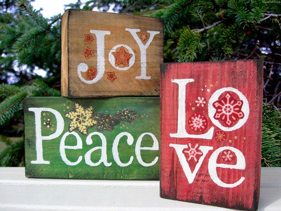 Peace Christmas Sign.Peace Love Joy With Food Body Eating Disorder