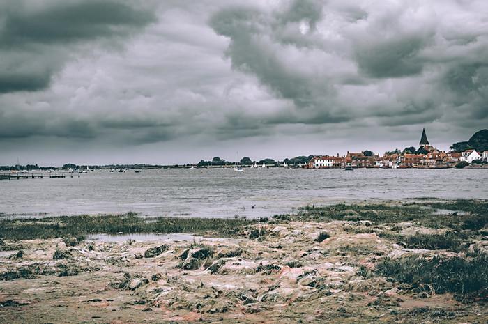 Vilage de Bosham (marée basse)