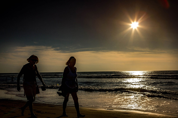 Coucher de soleil sur la Plage d'Anglet
