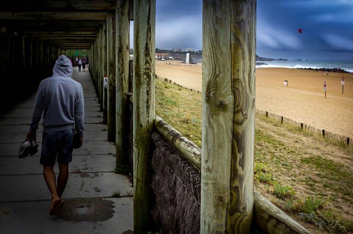 Promenade sur la Plage d'Anglet