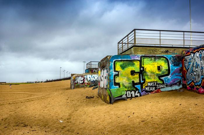 Blockhaus sur la plage d'Anglet