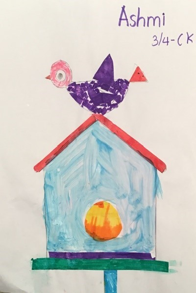 ashmi art - junk mail bird house