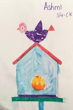 ashmi art - junk mail bird house