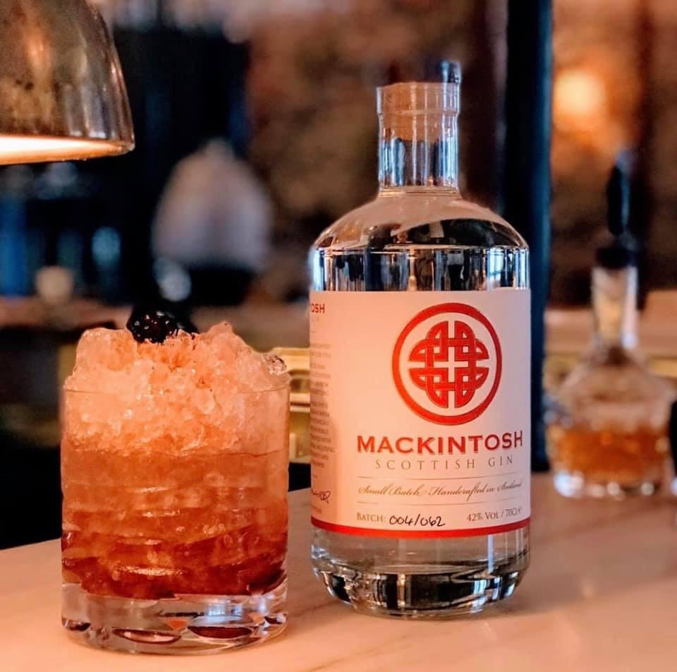 The Balmoral Hotel in Edinburgh featuring Mackintosh Gin