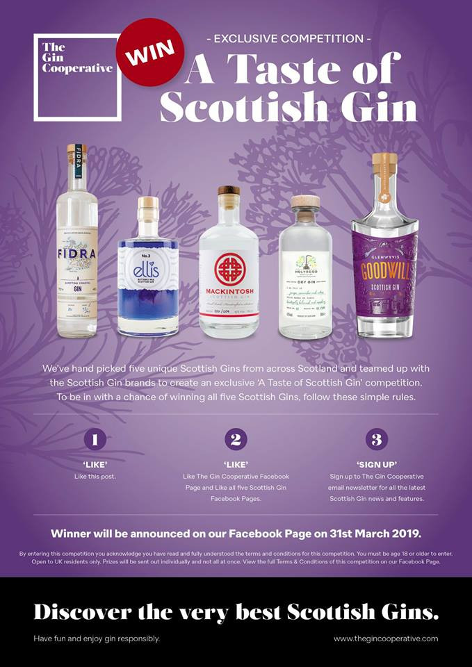 Mackintosh Gin in The Gin Cooperative A Taste of Scottish Gin competition