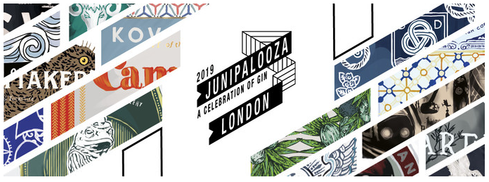 The banner for the 2019 Junipalooza Festival that Mackintosh Gin are attending
