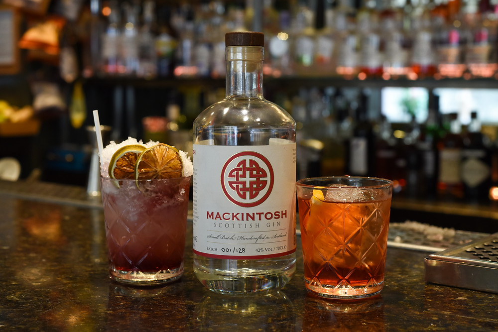 Mackintosh Gin Bramble and Negroni Cocktails at 56 North in Edinburgh
