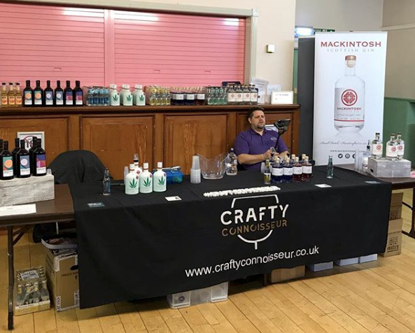 Mackintosh Gin with Crafty Connoisseur at Gin North East Festival known as GIN:NE