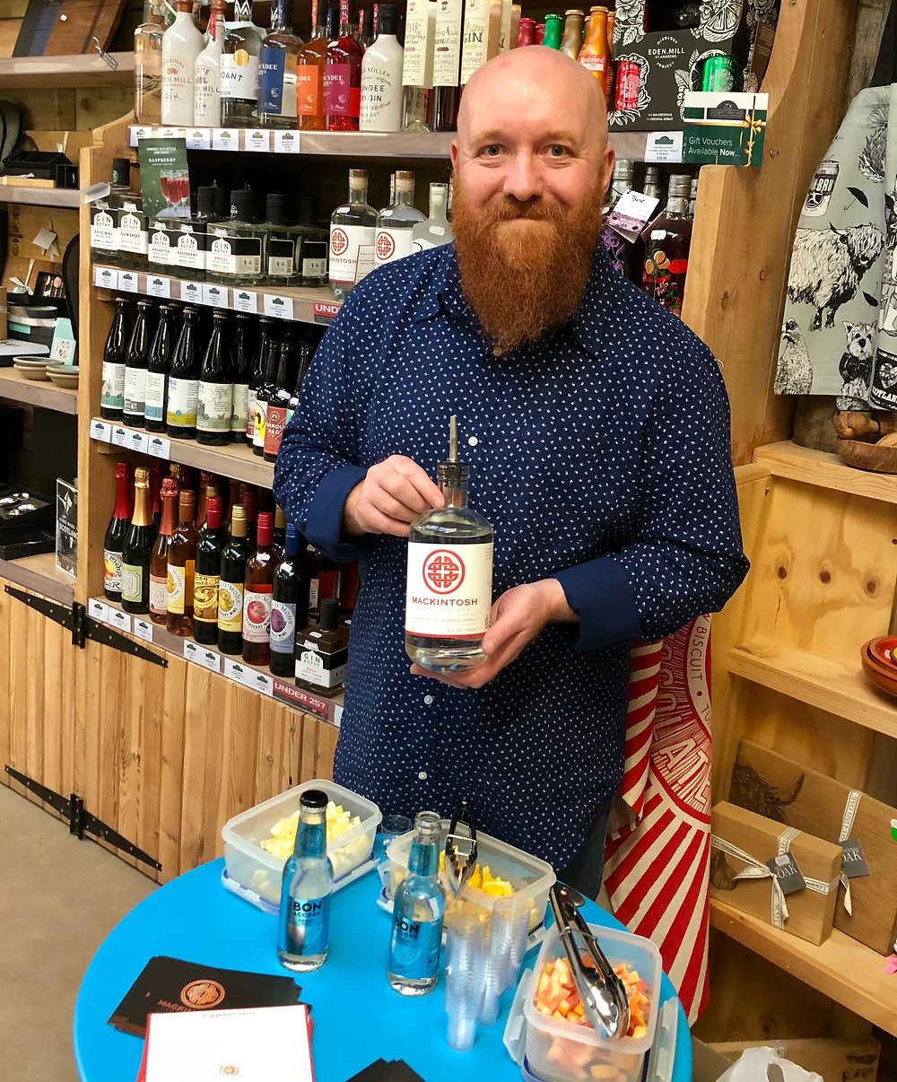 Gin and tonic tasting session at Grewars Farm Shop with Mackintosh Gin