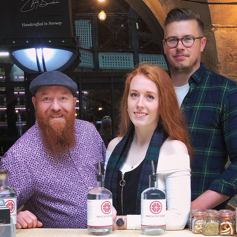 Jim Mackintosh with his daughter Stephanie and partner Dave from Mackintosh Gin exhibiting at Junipalooza in 2019