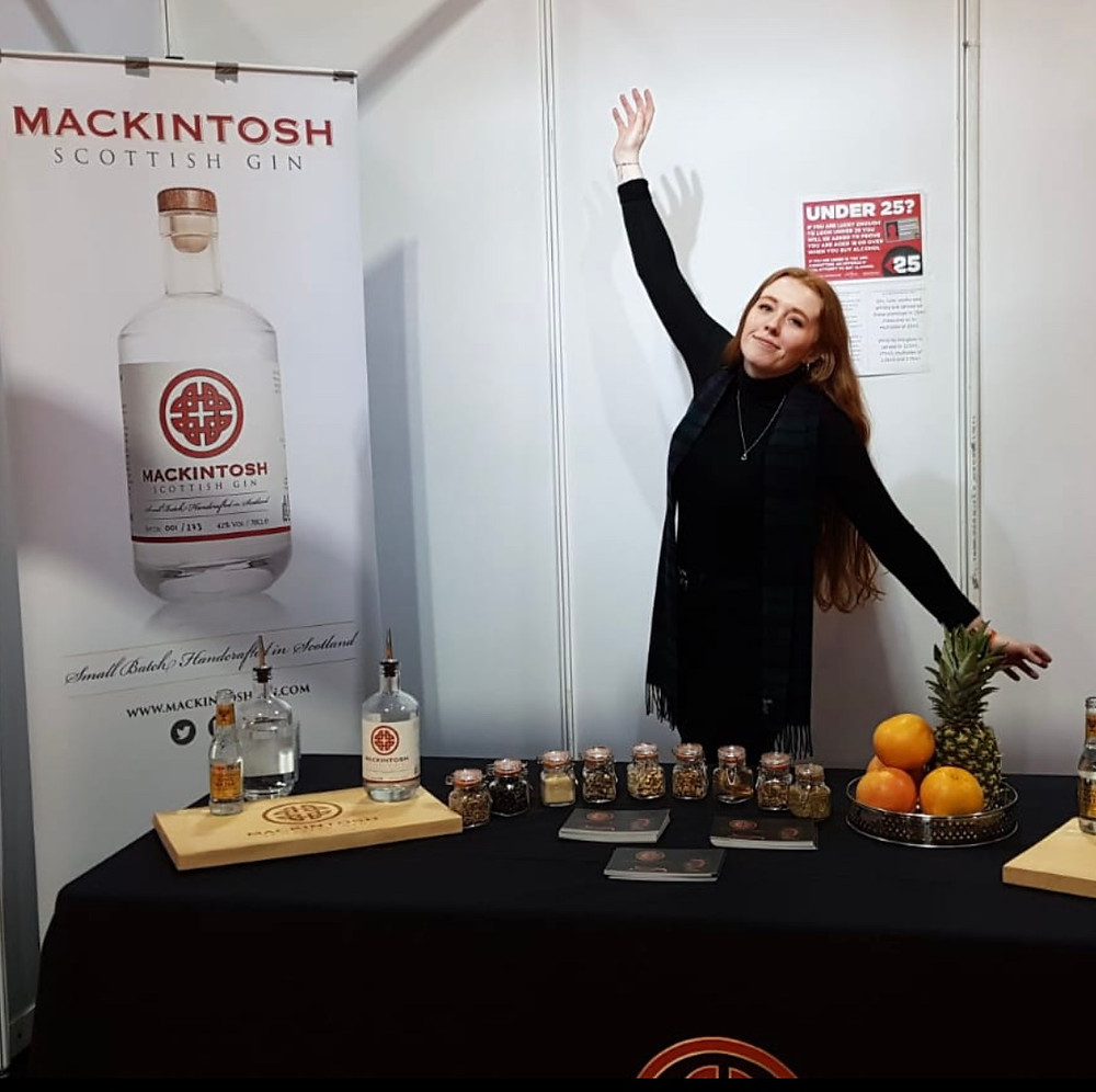 Stephanie from Mackintosh Gin at The Gin To My Tonic Show in Glasgow