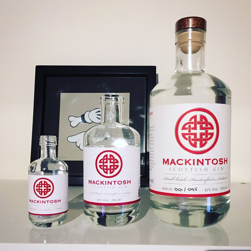 Smaller bottle size for Mackintosh Gin in 50ml and 200ml variety known as Mini Macks