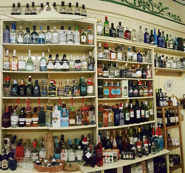 Smithies Gin Emporium in Arbroath with Mackintosh Gin on the shelf
