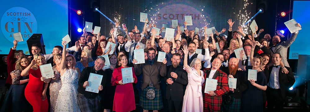Winners at the 2019 Scottish Gin Awards in Glasgow