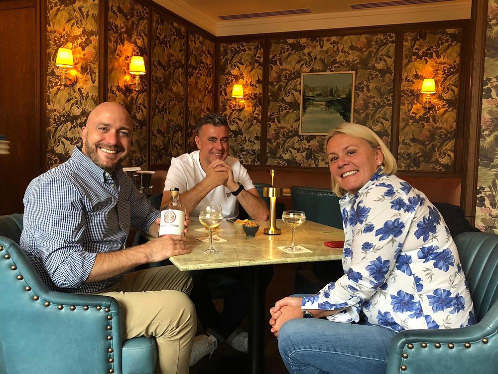 Customers enjoying Mackintosh Gin at The Balmoral Hotel in Edinburgh
