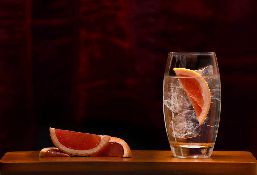 Edited image of a gin & tonic for Mackintosh Gin following a photo shoot