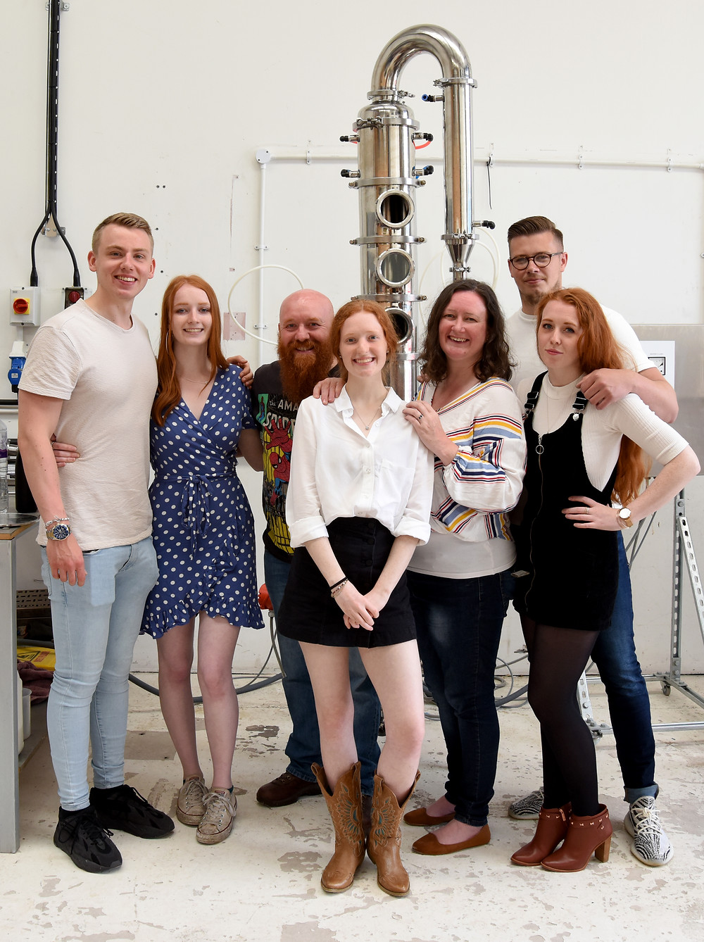 The entire team at Mackintosh Gin at the Distilutions Distillery in Arbroath