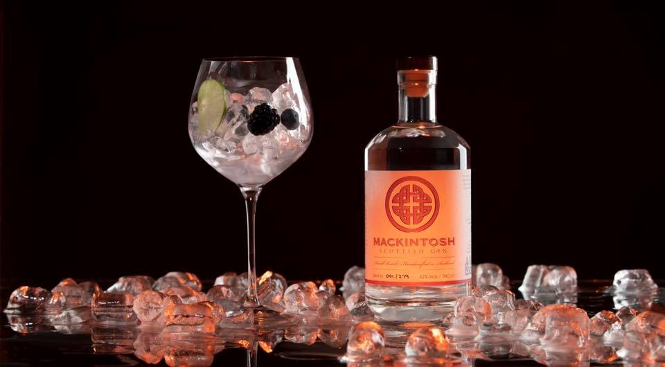 Mackintosh Gin product photography image taken by Mark Noble