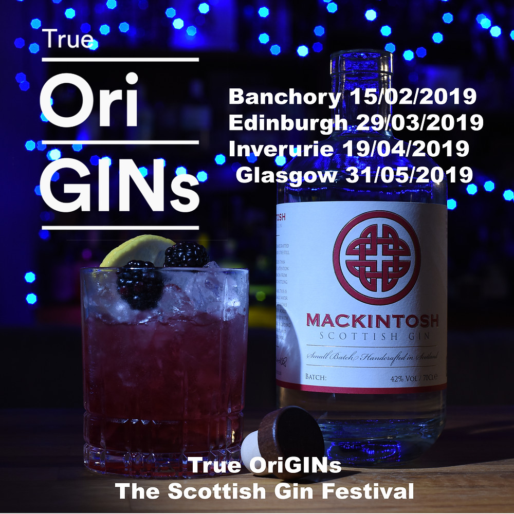 Mackintosh Gin Bramble cocktail at True OriGINs gin festival