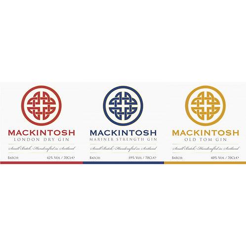 Mix case (6 bottles) of Mackintosh Gin