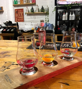 Gin tasting following a distillery tour at Eden Mill in Guardbridge near St Andrews