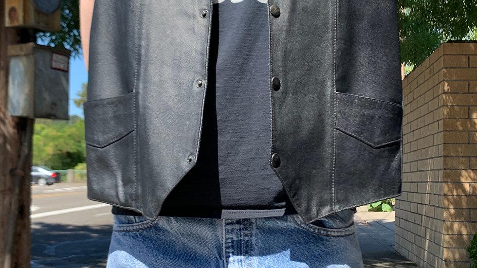 Wilda Leather Vest