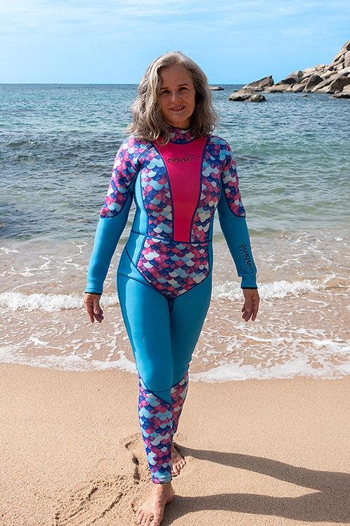 aurora_ocean's_spirit_long _3mm_fullsuit_womens_wetsuit_plus_size_larger_woman_diving_suit_scuba_gear