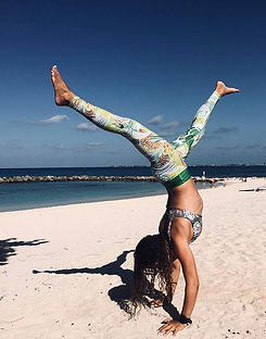 Aurora_wetsuits_ambassador_Natalie_Rudman_Female_freediving_yoga_instructor_Rainforest_collection_jungle_print_caribbean_region_beach_sun_sea