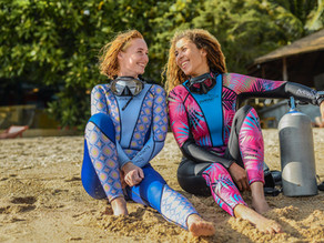 How to maintain your beautiful women's scuba diving wetsuit