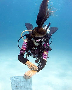 Aurora_wetsuits_Ambassador_Andrea_Warren_Arcal_Divine_full_long_3mm_diving_wetsuit_Tropical_design_PADI_CD_Course_Director_women_divers
