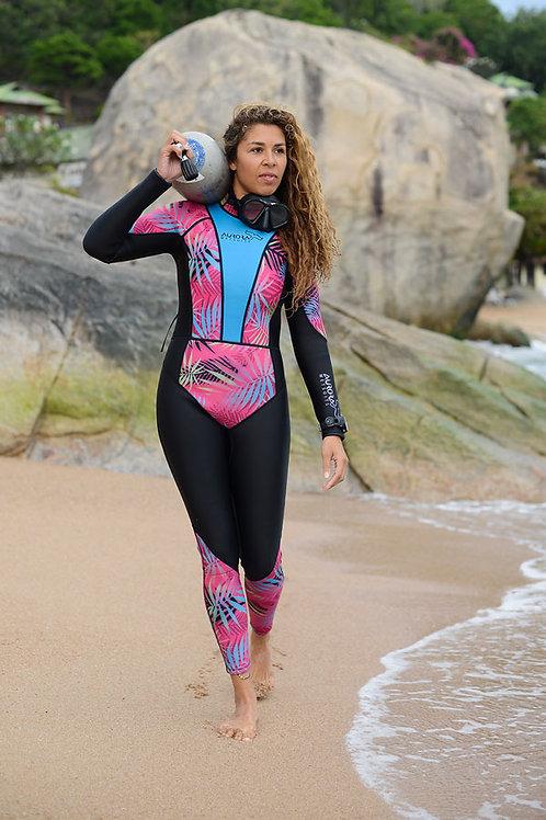 Women's Wetsuit Scuba Diving Gear Beautiful Colorful Design 3mm Fullsuit female in Wetsuit pro diver