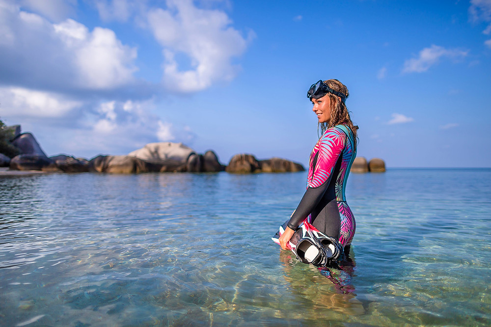 women's scuba wetsuit fun diving gear