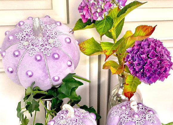 Purple Pearl Posh Pumpkin (Set of 3)