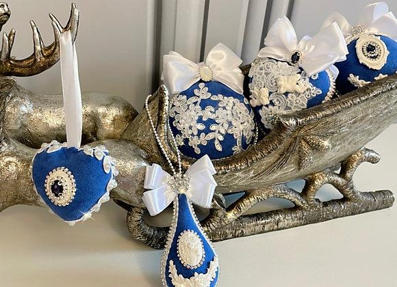 Denim Blue Heirloom Baubles