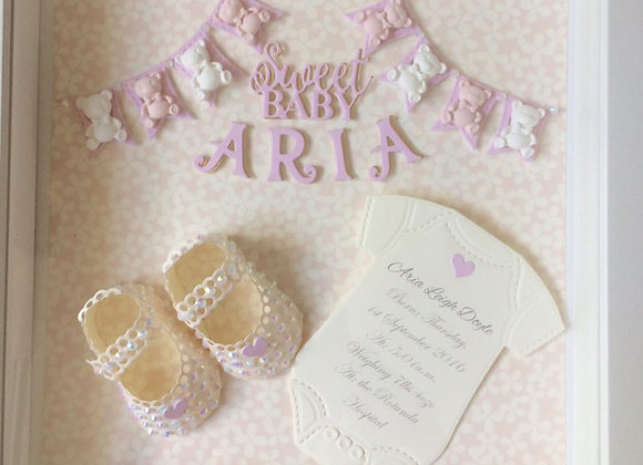 New Baby Girl Shadow Box