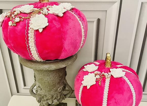 Hot pink set of two Posh Pumpkins