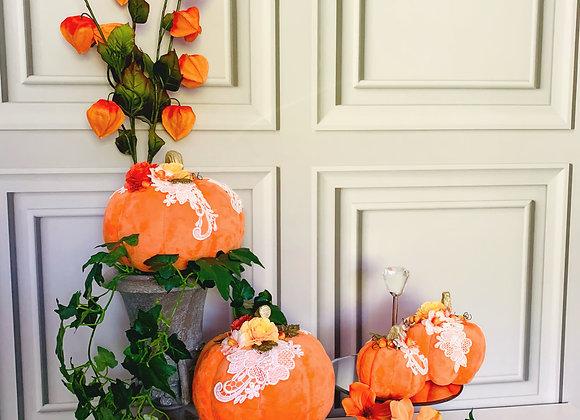 Lace Posh Pumpkins (Set of 3)