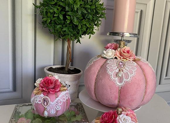 Pink Posh Pumpkins (Set of 3)