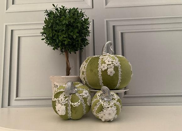Green Posh Pumpkins (Set of 3)