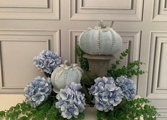 Silver Blue Posh Pumpkins (set of2)