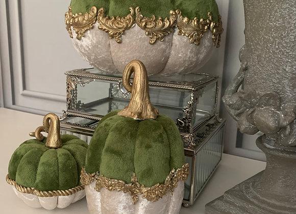 Green & Gold Posh Pumpkins (Set of 3)