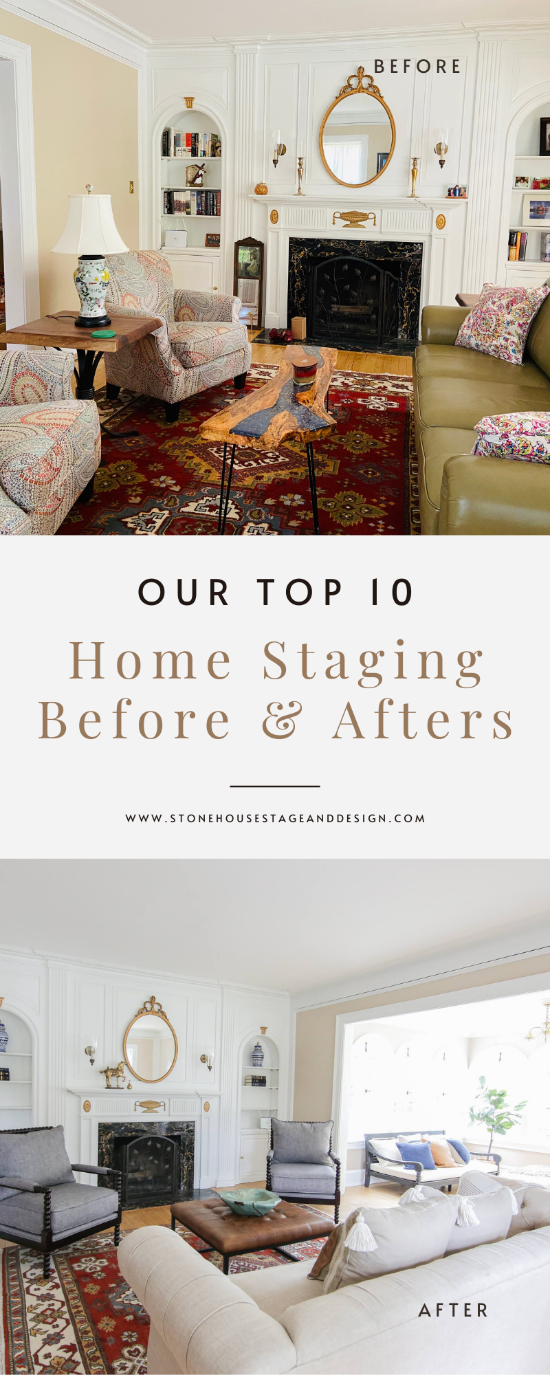 Top 10 Home Staging Before and Afters!