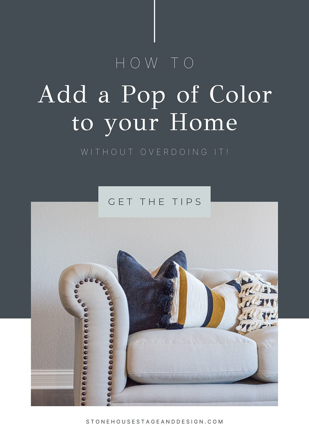 how to add a pop of color to your home without overdoing it