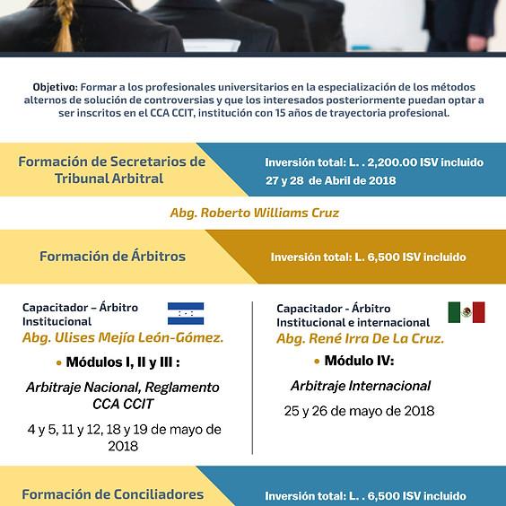 FORMACION DE SECRETARIOS - ARBITROS -CONCILIADORES CCA CCIT