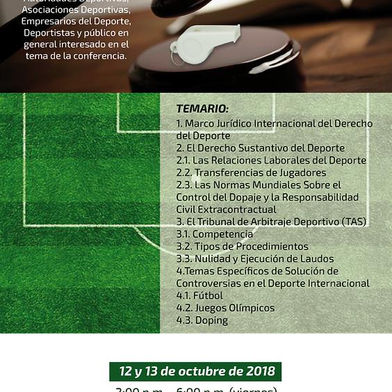 Conferencia Internacional Arbitraje Jurídico Deportivo