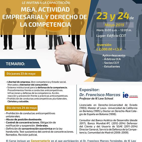 """Capacitación """"M&A Actividad Empresarial y Derecho de la Competencia"""